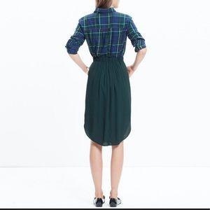 MADEWELL circle hem green skirt
